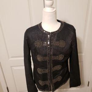 Chico's  black beaded blazer jacket.